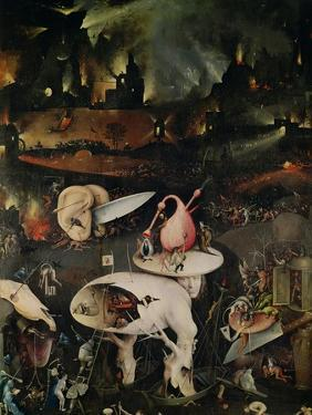 The Garden of Earthly Delights, Hell, Right Wing of Triptych, circa 1500 by Hieronymus Bosch