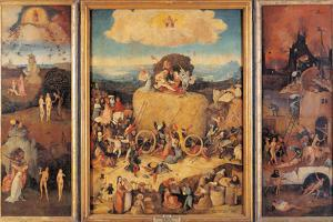 The Hay Wagon (the Tryptych of Hay) by Hieronymus Bosch