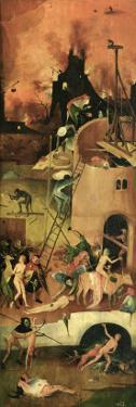 The Haywain: Right Wing of the Triptych Depicting Hell, c.1500 by Hieronymus Bosch