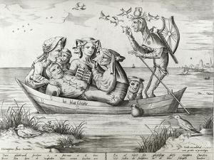 The Ship of Fools, Engraved by Pieter Ven Der Heyden, 1559 by Hieronymus Bosch