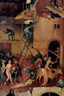 Tryptych of Hay, (Devils tormenting souls) by Hieronymus Bosch, c.1500-02, Prado. Detail. by Hieronymus Bosch