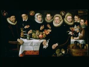 The Family of Adrien De Witte (1555-1616) 1608 by Hieronymus Francken