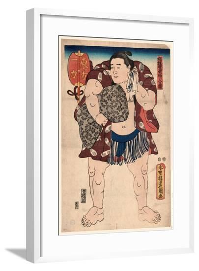 Higashi No Kata Ichiriki-Utagawa Toyokuni-Framed Giclee Print