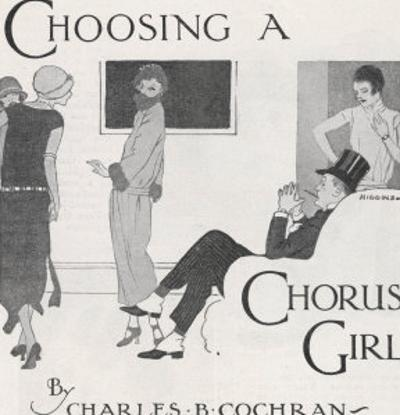 """""""Choosing a Chorus Girl"""", a Producer and His Assistant Assess Candidates for Their Next Revue"""