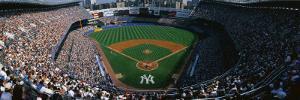 High Angle View of a Baseball Stadium, Yankee Stadium, New York City, New York State, USA