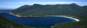High Angle View of a Bay, Wineglass Bay, Freycinet National Park, Tasmania, Australia