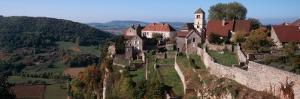High Angle View of a Castle, Chateau Chalon, Jura, Franche-Comte, France