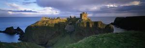 High Angle View of a Castle, Dunnottar Castle, Grampian, Stonehaven, Scotland