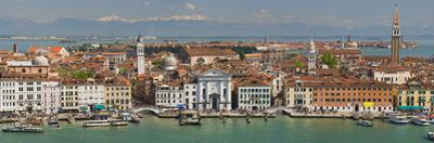 High Angle View of a City at the Waterfront, Venice, Veneto, Italy
