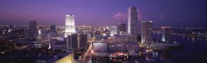 High Angle View of a City, Miami, Florida, USA