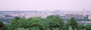 High Angle View of a City, Saint-Cloud, Paris, France