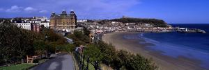 High Angle View of a City, Scarborough, North Yorkshire, England, United Kingdom