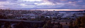 High Angle View of a City, Tacoma, Pierce County, Washington State, USA 2010