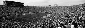 High Angle View of a Football Stadium Full of Spectators, Notre Dame Stadium, South Bend