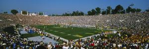 High Angle View of a Football Stadium Full of Spectators, the Rose Bowl, Pasadena