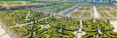 High angle view of a garden of a castle, Chateau De Villandry, Villandry, Indre-et-Loire, France