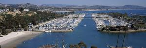 High Angle View of a Harbor, Dana Point Harbor, Dana Point, Orange County, California, USA
