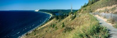 High angle view of a lake, Empire Bluff Trail, Sleeping Bear Dunes National Lakeshore, Lake Mich...