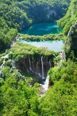 High Angle View of a Lake, Gavanovac Lake, Plitvice Lakes National Park, Croatia