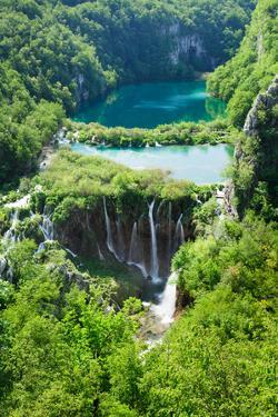 High Angle View of a Lake, Gavanovac Lake, Plitvice Lakes National Park, Croatia