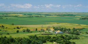 High Angle View of a Landscape, Arnold, Custer County, Nebraska, USA