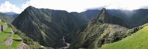 High Angle View of a Valley, Machu Picchu, Cusco Region, Peru