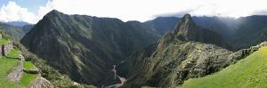 High Angle View of a Valley, Machu Picchu, Cusco Region, Peru