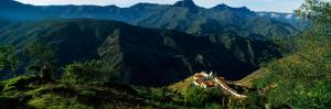 High Angle View of a Village, San Rafael De Mucuchies, Merida State, Andes, Venezuela