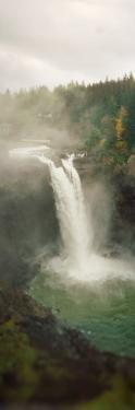 High Angle View of a Waterfall, Snoqualmie Falls, Snoqualmie, King County, Washington State, USA