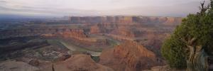 High Angle View of an Arid Landscape, Canyonlands National Park, Utah, USA