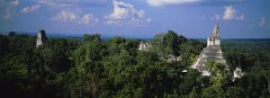 High Angle View of an Old Temple, Tikal, Guatemala