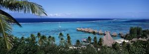 High Angle View of Beach Huts, Kia Ora, Moorea, French Polynesia
