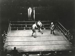High Angle View of Boxing Match