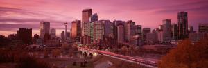 High Angle View of Centre Bridge, Calgary, Alberta, Canada
