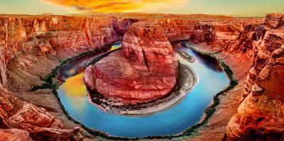 High Angle View of Horseshoe Bend, Page, Arizona, USA