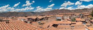 High angle view of houses in a town, Cuzco, Cusco Province, Peru