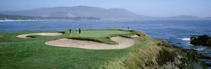 High Angle View of People Playing Golf at a Golf Course, Pebble Beach Golf Links, Pebble Beach