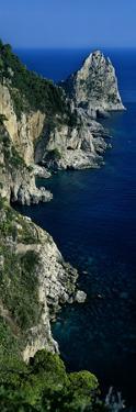 High Angle View of Rock Formations on the Coast, Faraglioni, Capri, Italy