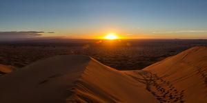 High angle view of Sahara Desert, Morocco