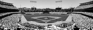 High Angle View of Spectators Watching a Baseball Match, Dodgers Vs. Yankees, Dodger Stadium