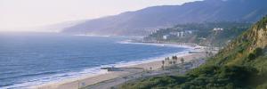 High Angle View of the Beach, Malibu, Pacific Palisades, Santa Monica Bay, California, USA
