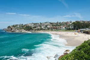High Angle View of the Bronte Beach, Sydney, New South Wales, Australia