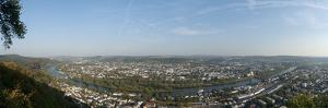 High Angle View of the City of Trier and River Mosel, Rhineland-Palatinate, Germany