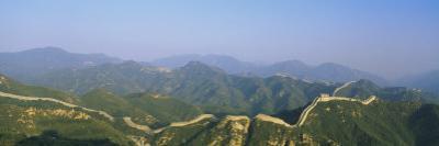 High Angle View of the Great Wall of China, Badaling, Beijing, China