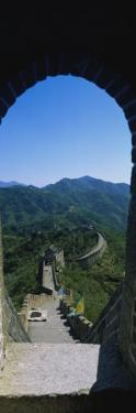High Angle View of the Great Wall of China, Beijing, China
