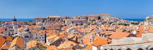 High Angle View of the Old Town, Dubrovnik, Dalmatia, Croatia