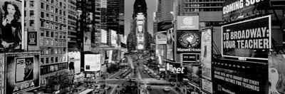 High Angle View of Traffic on a Road, Times Square, Manhattan, New York City, New York State, USA