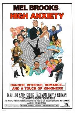 HIGH ANXIETY, US poster, Mel Brooks (top center), 1977