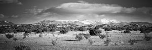 High Desert Plains Landscape with Snowcapped Sangre De Cristo Mountains in the Background