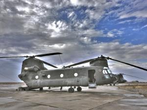 High Dynamic Range Image of a Ch-47 Chinook Helicopter
